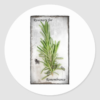 Rosemary Classic Round Sticker