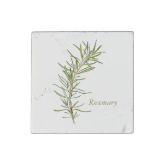Rosemary - Marble Stone Magnet