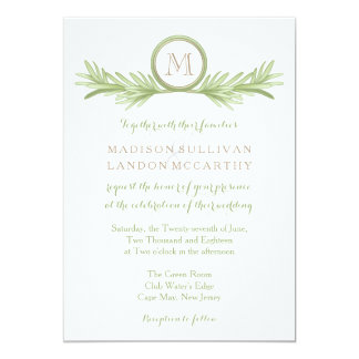 Rosemary Sprigs Herbal Wedding Card