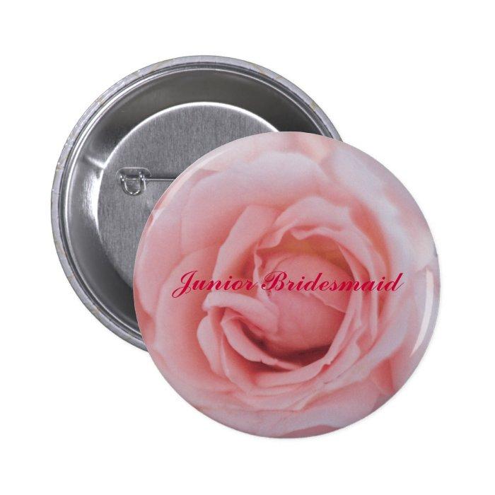 RoseMousepad copy, Junior Bridesmaid 6 Cm Round Badge