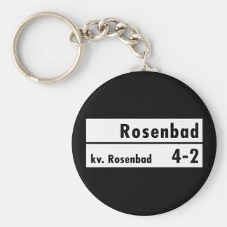 Rosenbad, Stockholm, Swedish Street Sign Keychain