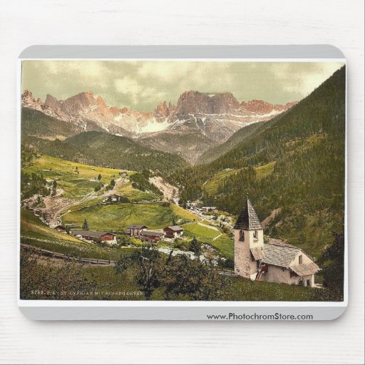 Rosengarten and St. Cyprian, Tyrol, Austro-Hungary Mousepads
