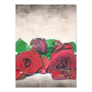 Roses 14 Cm X 19 Cm Invitation Card