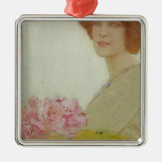 Roses, 1912 christmas ornament