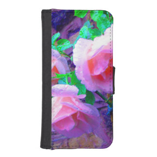 roses abstract phone wallet case