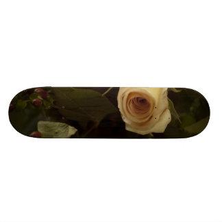 Roses and Berries - Pink Peace Rose Custom Skate Board