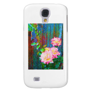 Roses and blue Fence Samsung Galaxy S4 Case