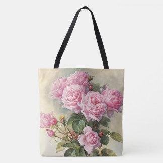 Roses and Bumblebees Paul de Longpre Fine Art Tote Bag