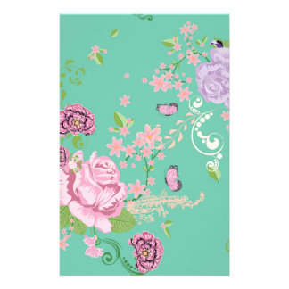 Roses and Butterflies Ornament 3 Stationery