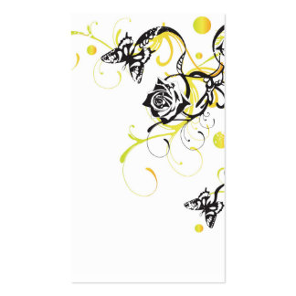 Roses and butterflies Profile Card Double-Sided Standard Business Cards (Pack Of 100)