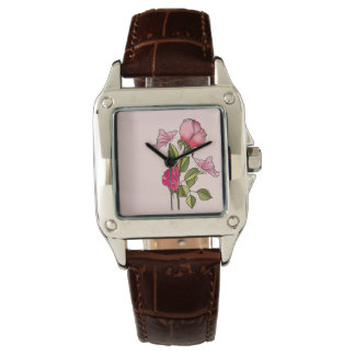 roses and butterflies watch