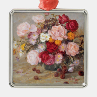 Roses and Daisies Christmas Ornament