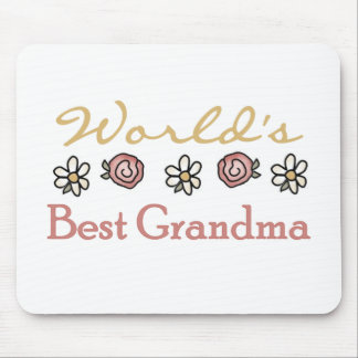 Roses and Daisies World's Best Grandma  Mouse Pad