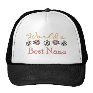 Roses and Daisies World's Best Nana Cap