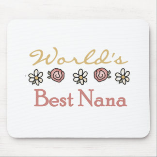 Roses and Daisies World's Best Nana Mouse Pad