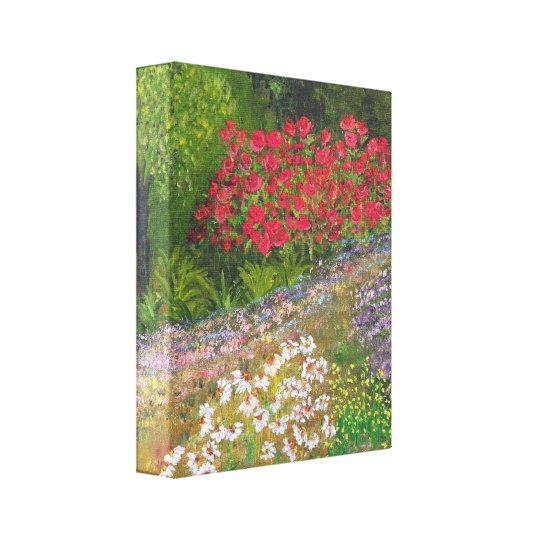 Roses and Daisys Canvas Print