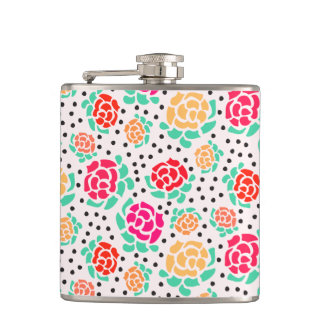 Roses and Dots - Flask