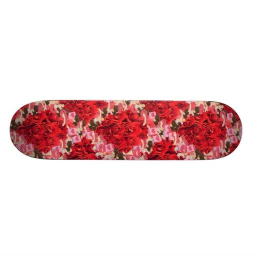 roses and hearts skateboard decks