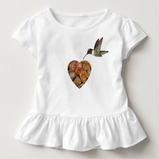 Roses And Hummingbird Toddler T-Shirt