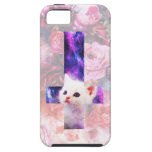 Roses And Inverted Cross Kitten Case iPhone 5 Cover