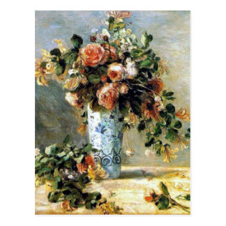 Roses and Jasmine Fine Art Bouquet Postcard
