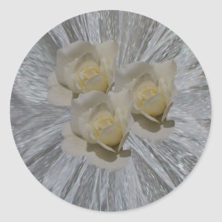 Roses and Lace Round Sticker