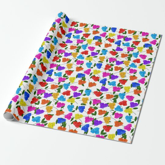 Roses and Leaves Wrapping Paper