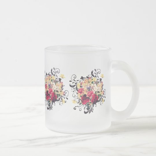 Roses and lilac. Pretty vintage styled print Frosted