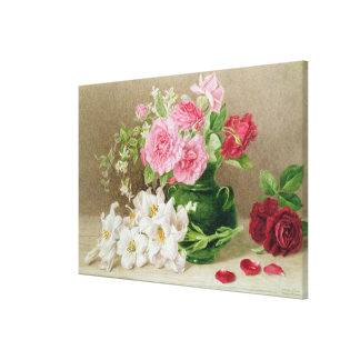 Roses and Lilies Canvas Print