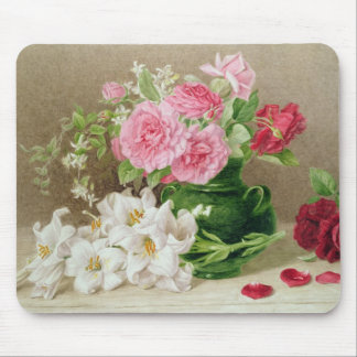 Roses and Lilies Mouse Mat