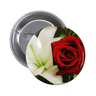 Roses and Lilys_ 6 Cm Round Badge