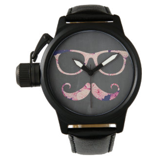 Roses and mustache wristwatches