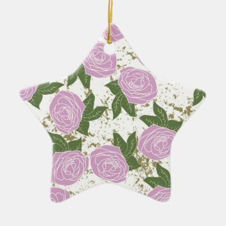 roses and peeling paint christmas ornament