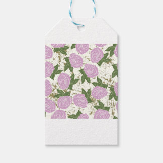 roses and peeling paint gift tags