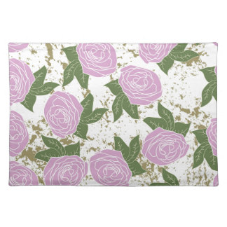 roses and peeling paint placemat