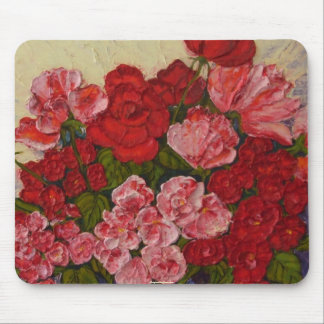 Roses and Peonies Mousepad