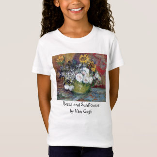 Roses and Sunflowers by Van Gogh T-Shirt