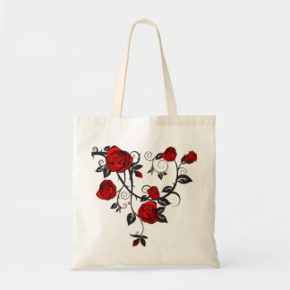 Roses and Vines Budget Tote Bag
