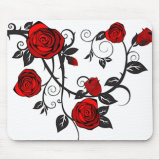Roses and Vines Mouse Pad