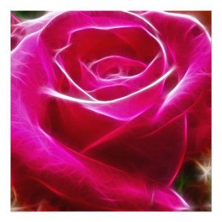 Roses Are Neon Pink Artistic & Unique Photo Print