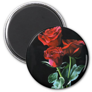 """Roses Are Red"" 6 Cm Round Magnet"
