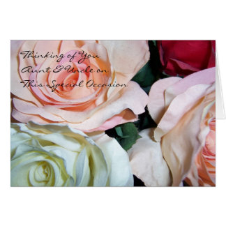 Roses Aunt And Uncle Wedding Anniversary Card