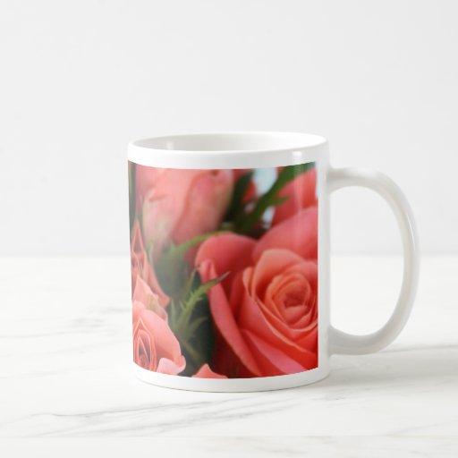 Roses Basic White Mug