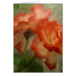 Roses Behind Glass Greeting Cards