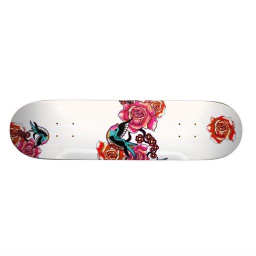 Roses & Birds Skateboard