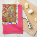 roses blooming drip kitchen towels
