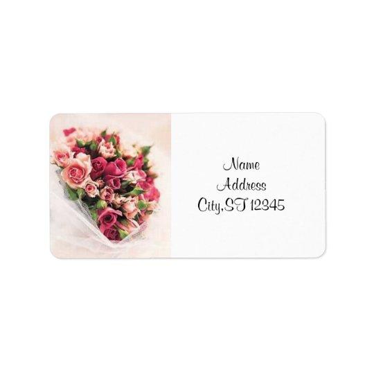 Roses Bouquet Address Label