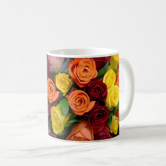 Roses Bouquet - Coffee Mug