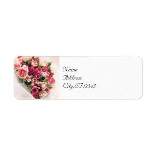 Roses Bouquet Return Address Label
