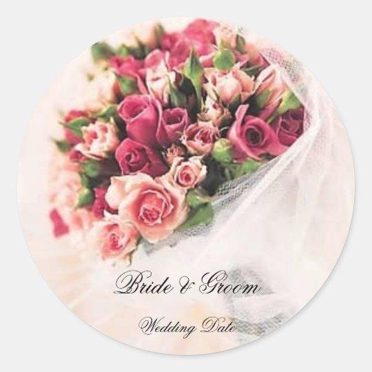 Roses Bouquet Wedding Sticker